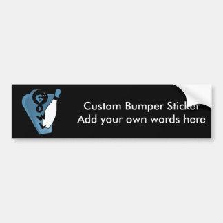 Bowl Pin Retro Bowling Ad Logo Blue Bumper Sticker