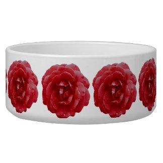 Bowl - Red Red Rose Dog Food Bowls