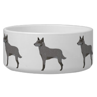 Bowl with australian catlle dog