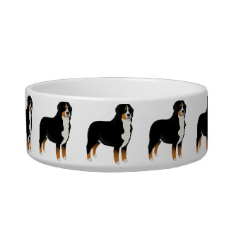 Bowl with Bernese mountain dog
