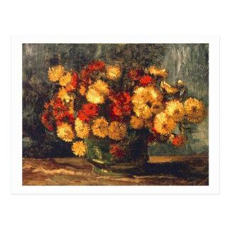Bowl with Chrysanthemums Van Gogh Fine Art Postcard