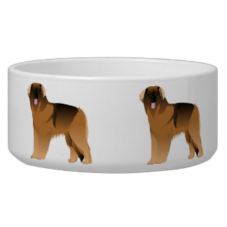 Bowl with leonberger