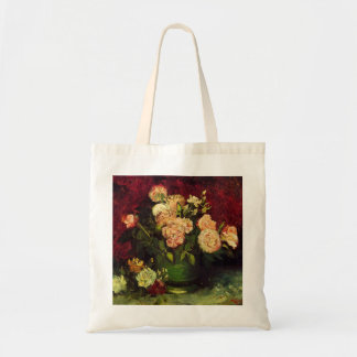 Bowl with Peonies and Roses by Vincent van Gogh Budget Tote Bag