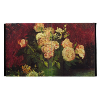 Bowl with Peonies and Roses by Vincent van Gogh iPad Case