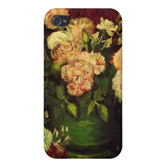 Bowl with Peonies and Roses by Vincent van Gogh iPhone 4/4S Case