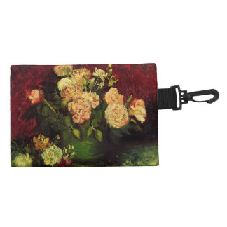 Bowl with Peonies and Roses, Vincent van Gogh Accessory Bags