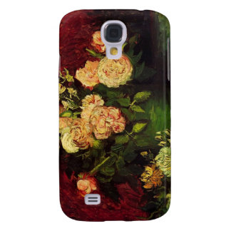 Bowl with Peonies and Roses, Vincent van Gogh Galaxy S4 Cases
