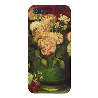 Bowl with Peonies and Roses, Vincent van Gogh. Case For iPhone SE/5/5s