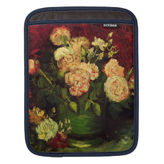 Bowl with Peonies and Roses, Vincent van Gogh iPad Sleeve