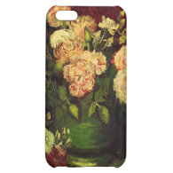 Bowl with Peonies and Roses, Vincent van Gogh. Cover For iPhone 5C