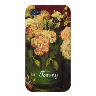 Bowl with Peonies and Roses, Vincent van Gogh. iPhone 4/4S Case