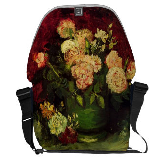 Bowl with Peonies and Roses, Vincent van Gogh Courier Bags