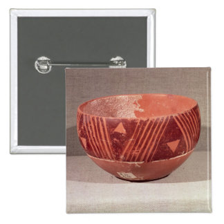 Bowl with triangular pattern, from Banpu, Pinback Button
