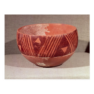 Bowl with triangular pattern, from Banpu, Postcard