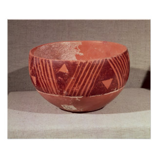 Bowl with triangular pattern, from Banpu, Poster