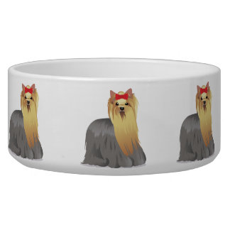 Bowl with yorkshire terrier