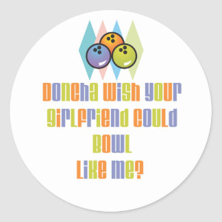 BowlChick Doncha Classic Round Sticker
