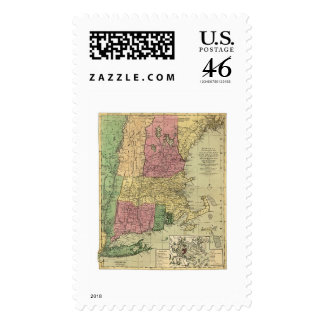 Bowle s Map of New England 1784 Stamps