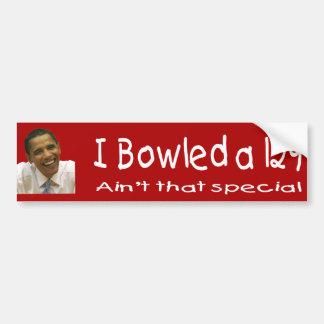 Bowled a 129 funny Bumper Sticker