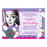 """""""Bowled Over"""" Party Invitation - Girls"""