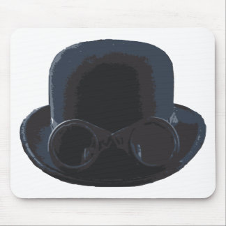 Bowler and Goggles Mouse Pad