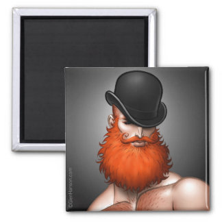 """Bowler Beard"" Magnet by Glen Hanson"