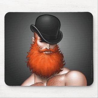 """""""Bowler Beard"""" Mouse Pad by Glen Hanson"""