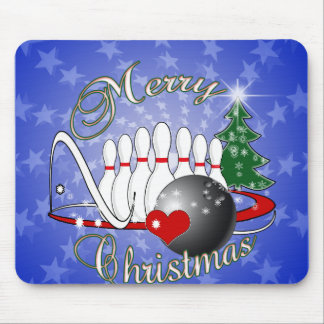 BOWLER / BOWLING MERRY CHRISTMAS MOUSE PAD