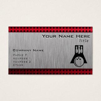 Bowler; Brushed Aluminum look Business Card