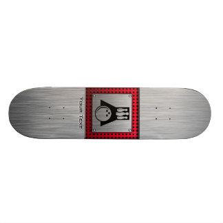 Bowler; Brushed Aluminum look Skate Board Deck