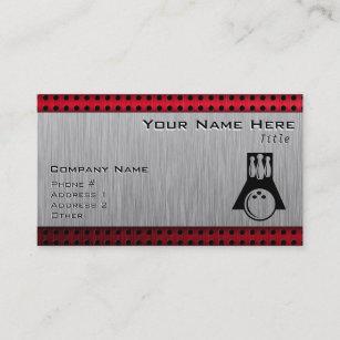 Brushed aluminum business cards zazzle bowler brushed aluminum look business card colourmoves
