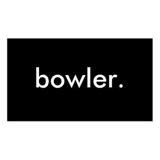 bowler. Double-Sided standard business cards (Pack of 100)