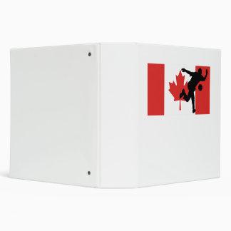 Bowler Canadian Flag Binder