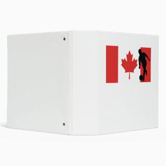 Bowler Canadian Flag Vinyl Binder