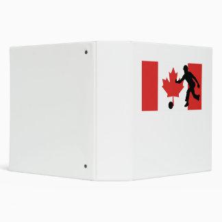 Bowler Canadian Flag Vinyl Binders