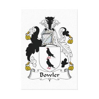 Bowler Family Crest Canvas Print