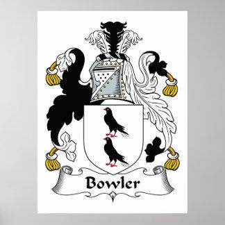 Bowler Family Crest Poster