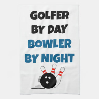 Bowler Golfer Hand Towel