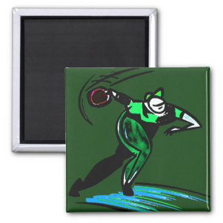 BOWLER GREAT 2 INCH SQUARE MAGNET