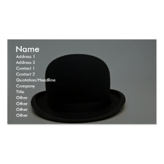 Bowler hat Double-Sided standard business cards (Pack of 100)