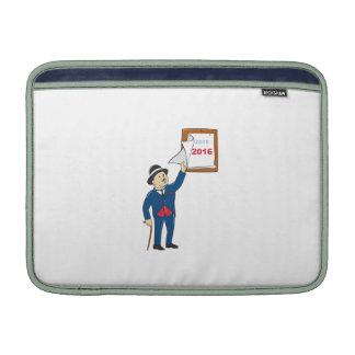 Bowler Hat Man Peeling 2016 Calendar MacBook Air Sleeve