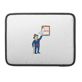 Bowler Hat Man Peeling 2016 Calendar Sleeves For MacBooks