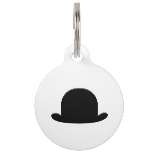Bowler Hat Pet Name Tag