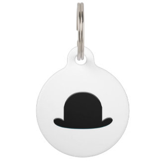 Bowler Hat Pet Tags
