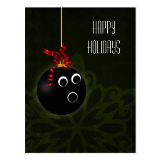 bowler hOLIDAY greetings Postcard