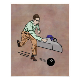 Bowler in Brown and Green Poster