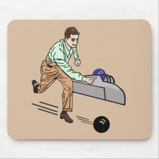 Bowler in Green and Brown Customizable Mouse Pad