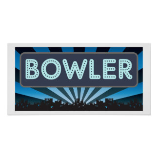 Bowler Marquee Posters
