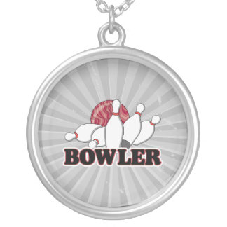bowler round pendant necklace