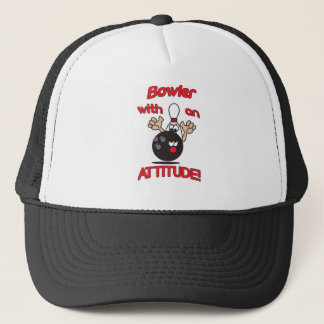 Bowler with an Attitude Trucker Hat